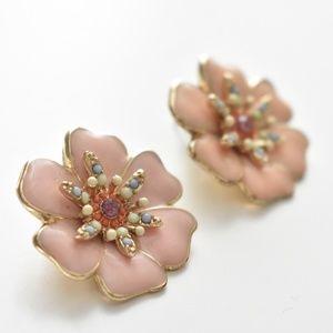 🇬🇧Topshop flower statement earrings
